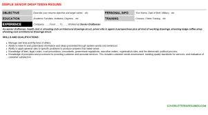 Draftsman Resumes Senior Draftsman Cv Cover Letter Resume Template 67374