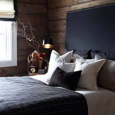 Bright masculine bedding in Bedroom Contemporary with Led Backlit Mirrors  next to Headboard With Light alongside Bed ...