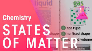 Gas Liquid Solids States Of Matter Solids Liquids And Gases Properties Of Matter Chemistry Fuseschool