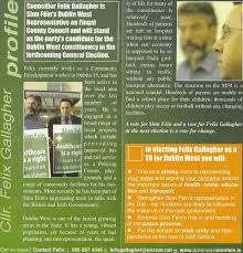 Leaflet from Felix Gallagher -Sinn Fein -2007 GE Dublin West | Irish  Election Literature