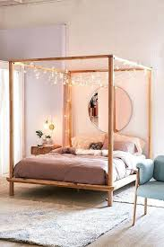 Diy Canopy Bed Frame 5 Metal How To Build A Wood King