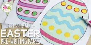 Help your first grader write his very. How To Use These Free Printable Easter Activities For Pre Writing Practice Early Learning Ideas