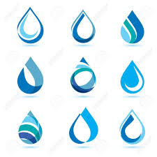 Water Drops Template Set Of Abstract Blue Water Drops Symbols Logo Template Royalty Free