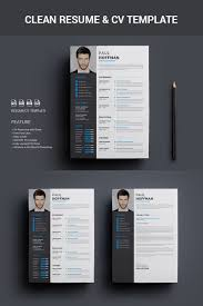 Modern Design Resume Clean Modern Design Template Resume Cvvector Stock Vector Resume 14