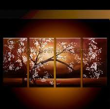 brown white adorable pink flower tree picture free shipping wall art canvas painting wall pictures four  on pink and brown wall art with wall art best ideas wall art canvas painting ebay canvas wall art