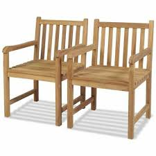 garden patio furniture 2x teak