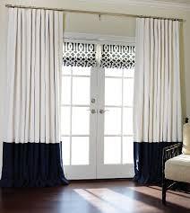 Navy And White Curtains Bordered Linen Linen Custom Drapes Drapestylecom