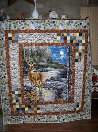 This would be great in a cabin! #PNW #Quilting | Quilting ... & Trail fence in opposing corners to connect quilt. love this idea for a panel  quilt border from the Quilting Board Adamdwight.com