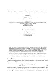 pdf smooth and peaked solitons of the ch equation