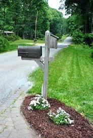 landscaping around mailbox post. 3 Mailbox Post Astonishing Landscaping Around Plans . S