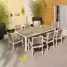 Stunning Salon De Jardin Teck Gris Images Amazing House Design Salon De Jardin Carla Aluminium Blanc