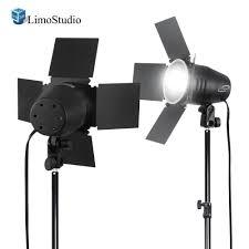 2 Sets of 250 Watt JDD Frost Halogen Bulb Barn Door Light with ...