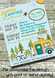 church invitation flyers summer camping retreat community camping trip church or school