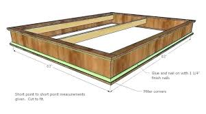 Queen Platform Bed Dimensions Designs Collection In Twin Size Bed ...