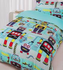 robot workshop quilt cover set  robot bedding  kids bedding dreams