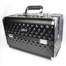vanity case makeup box heavy duty black beauty beautician hairdresser storage ebay