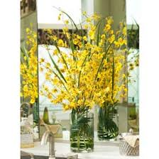 officescapesdirect oncidium orchids grass silk flower arrangement yellow artificial plants for office decor