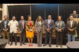 members of the newly launched african business roundtable abr following the launch of the on friday evening at the georgetown marriott hotel