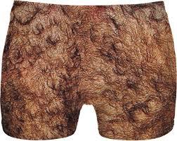 Hairy butt in underwear