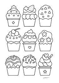 無料ダウンロードぬりえ2おやつのカップケーキがいっぱい カフェデ