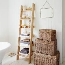 image ladder bookshelf design simple furniture. Wicker Hamper With Simple Ladder Bookshelves And Freestanding Tub Image Bookshelf Design Furniture C