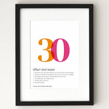 30th birthday personalized poster definition poster 30