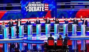 Image result for democrat debate raising hands