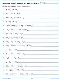 all worksheets balancing chemical equations worksheet 1 answers rated 2 part answer key e
