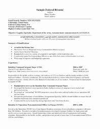 Sample Resume Format For Usa Jobs Elegant Usajobs Resume Sample Usa