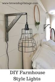 Image Wall Mounted Check Out How To Diy Two Cage Pendant Lights And Brackets For 40 Pinterest Easy And Affordable Diy Industrial Farmhouse Pendant Lights