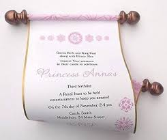 Scroll Birthday Invitations Amazon Com Princess Birthday Invitation Scrolls With Flower Blooms
