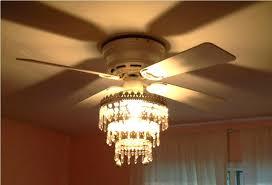 ceiling fan chandelier white