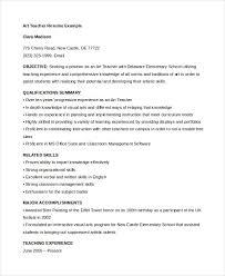 Daycare Teacher Resume 4 Art Teacher Resume Template Suiteblounge Com