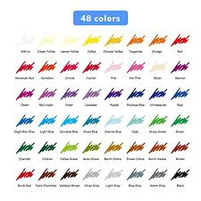 Staedtler Colored Pencils 48 Color Chart Zab K Art Colored Pencils Premium Set Of 48 Drawing Pencils For Sketching Multi Color By Zk Inc