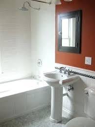 chair rail bathroom. Bathroom Chair Rail White Traditional Stops At The  Shower Tile Frames Pictures Chair Rail Bathroom .
