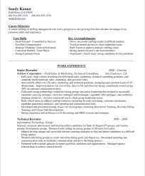 Sample Resume For Recruiter Position