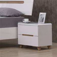 Oslo Bedside Table (White Finish)