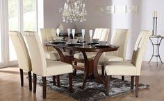townhouse oval dark wood extending dining table and 6 chairs set bewley ivory for only at furniture choice
