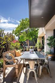 Exterior:Minimalist Roof Terrace Design Ideas With Silver Chair And Pallet  Wooden Bench Seat Good