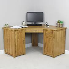 london oak large pedestal home. london solid oak corner home office desk large pedestal k