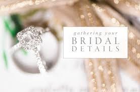 Wedding Detail Checklist Gathering Your Bridal Details Virginia Wedding