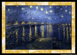 by vincent van gogh starry night over the rhone