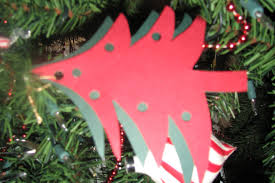 Paper Christmas Tree Ornaments Christmas Craft Projects For Kids Paper Tree Ornament Kraftykid