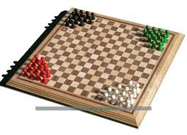 Classic Wooden Board Games Halma Board Game Hand Made Wooden Halma Set 4