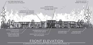 a conceptual elevation drawing prepared by designer julian berg open door munity health centers