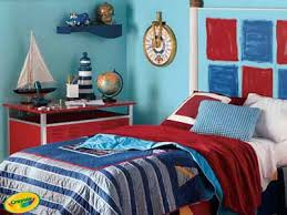 Red white blue | Children bedroom, navy, light blue and red color  combination for