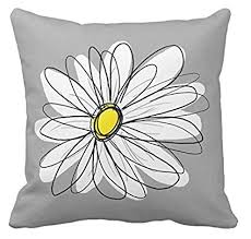 Yellow And Gray Pillow Covers