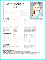 Beginner Actor Resume Cool Example Of Child Actor Resume Amazing Decoration For Beginners