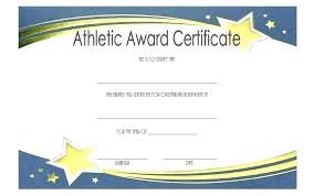 Congratulations Certificates Templates Athletic Certificate Template