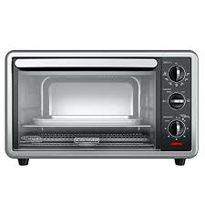 black and digital convection oven 6 slice toaster silver